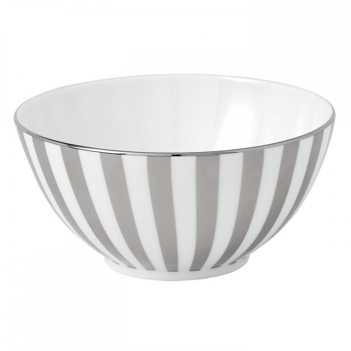 Platinum Striped Nibbles Bowl