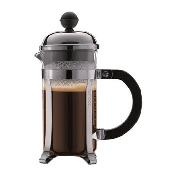 Chambord, 3 Cup Coffee Maker, 35cl, Silver/Black