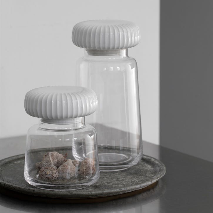 Hammershøi Storage Jar, Small, White