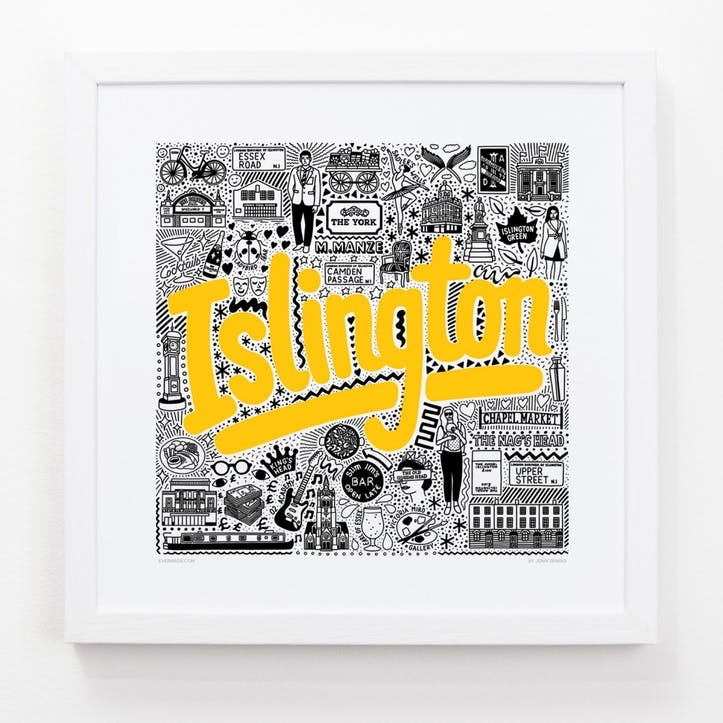 Hometown Islington Print, 33cm