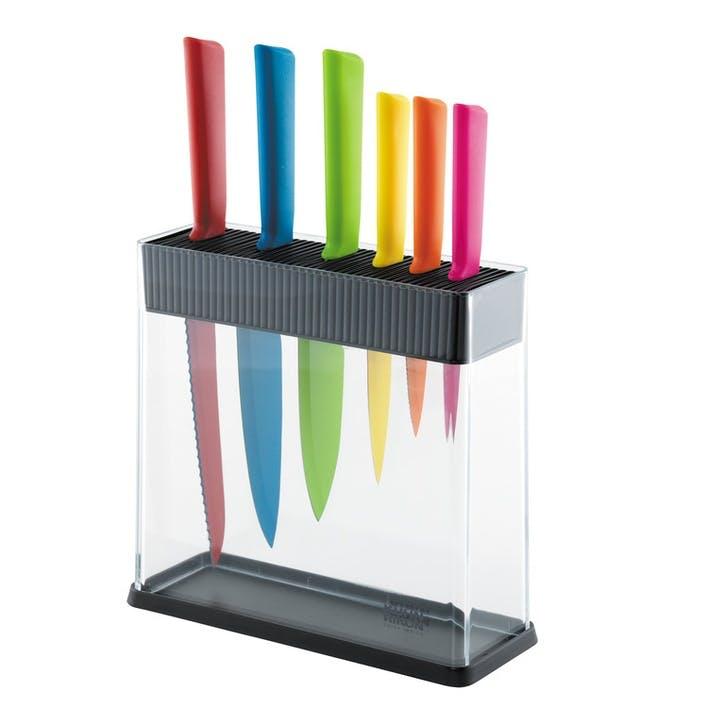Colori+ 7 Piece Assorted Knife Set & Block