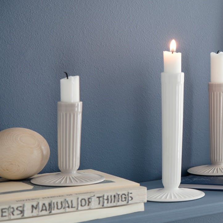 Hammershøi Candle Stick, Small, Light Grey