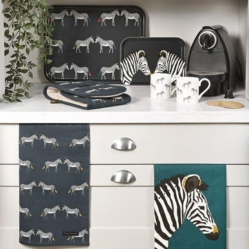 'Zebra' Double Oven Glove