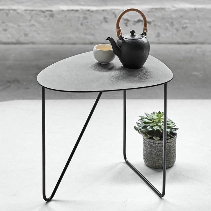 Curve Coffee Table, Large, Black/ Grey