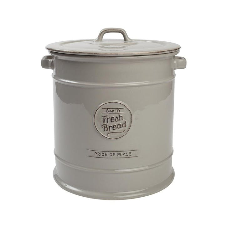 Pride of Place Bread Crock, Cool Grey