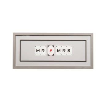 'Mr & Mrs' Word Frame, Grey