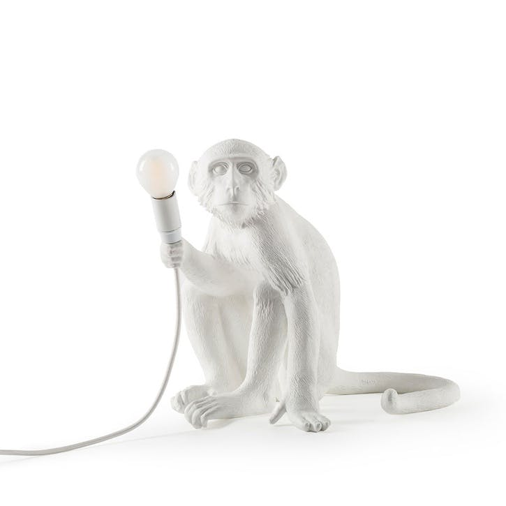 Monkey Lamp, Sitting White