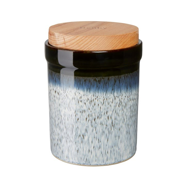 Halo Storage Jar, 15cm, Black/ Blue