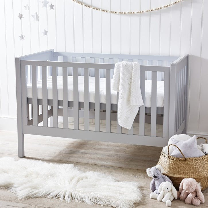 Classic Cot Bed, Grey