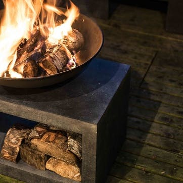 Outdoor Fireball & Rectangle Console, Granite