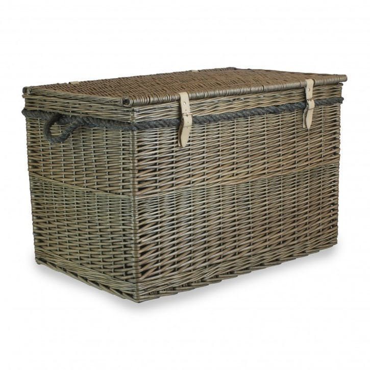 Antique Wash Storage Hamper, 29""