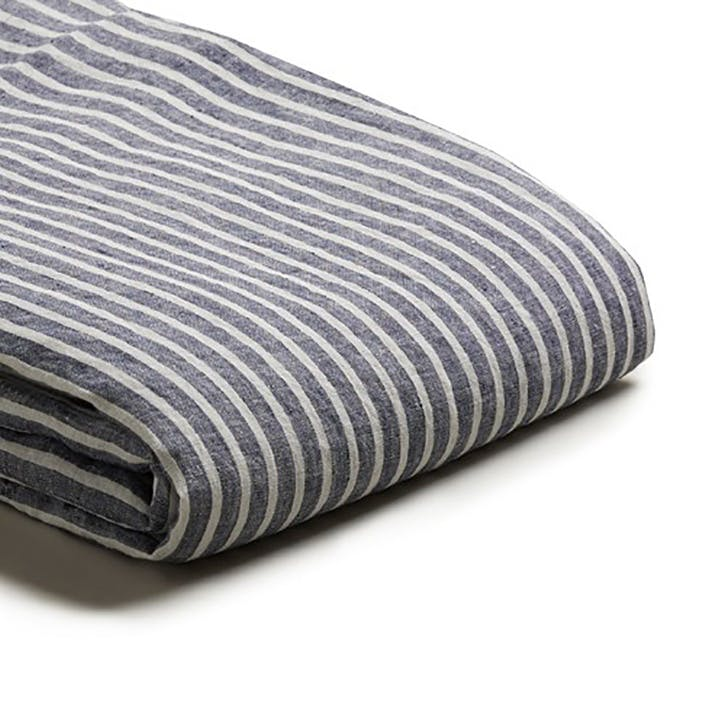 King Duvet Cover Midnight Stripe