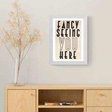 Vintage by Hemmingway, Fancy Seeing You Here Framed Art Print