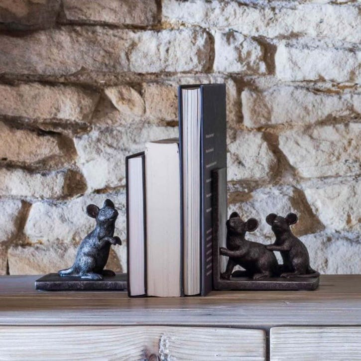 Mouse Bookend, Set of 2