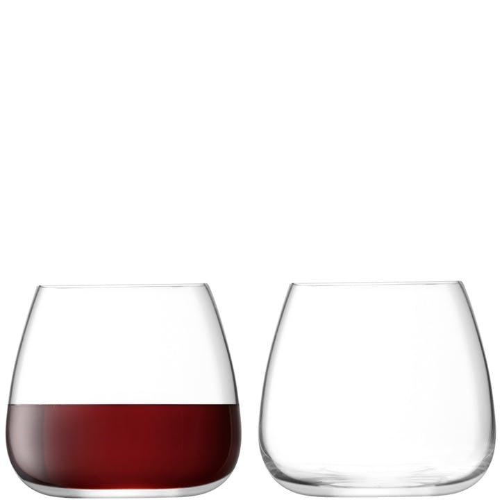 Wine Culture Set of 2 Stemless Wine Glasses