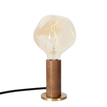 Knuckle Pendant Table Lamp with Voronoi Bulb H30 x D13cm Walnut & Brass