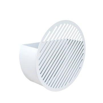 Diagonal, Medium Wall Basket, White
