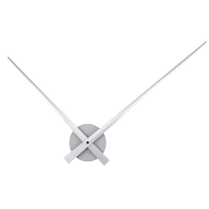 Little Big Time Wall Clock, Silver