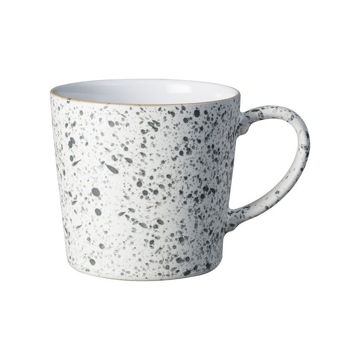 Handcrafted White Speckled Mug, 400ml