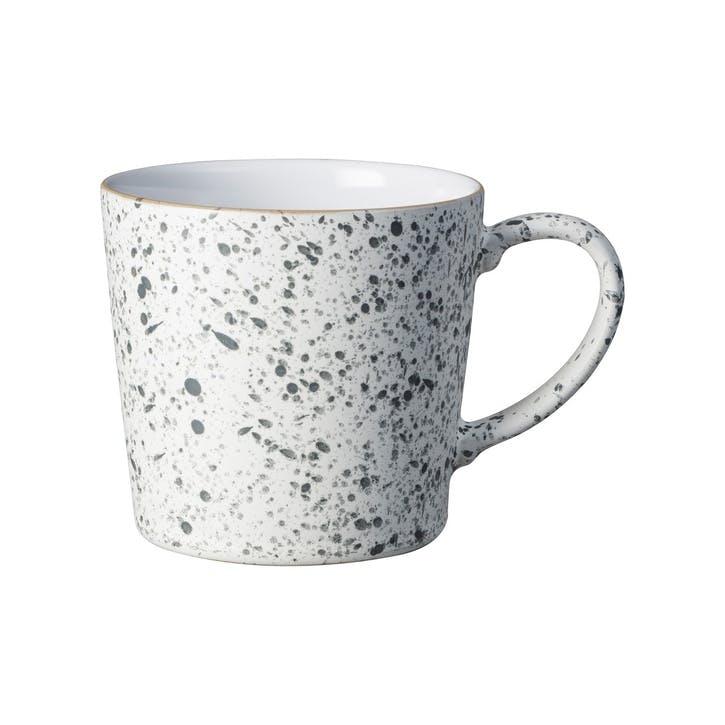 Handcrafted White Speckled Mug, 400ml