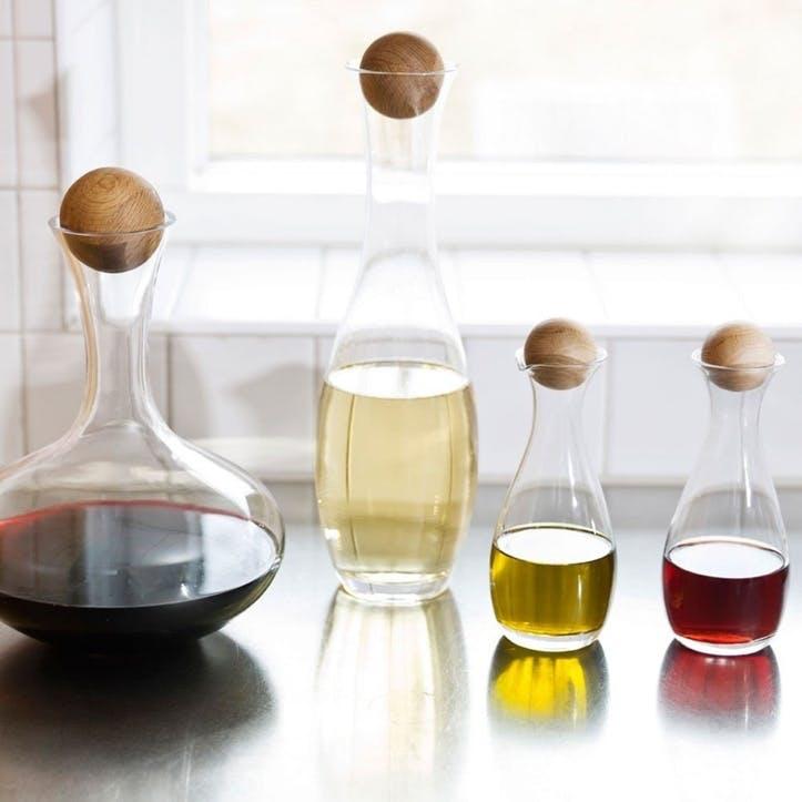 Wine Carafe With Oak Stopper - 2L