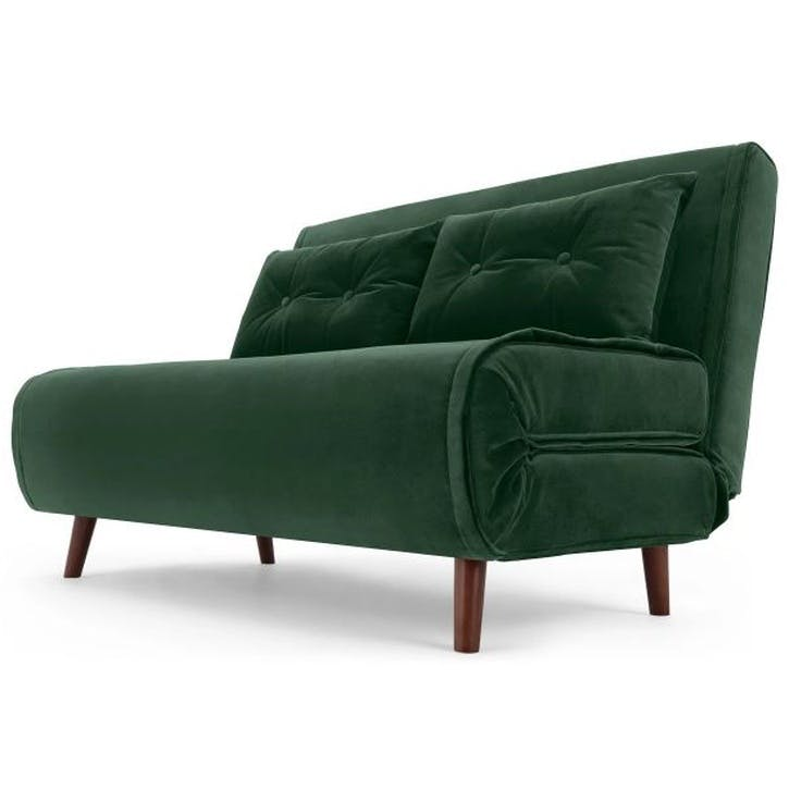 Haru Sofa Bed - Double; Pine Green Velvet