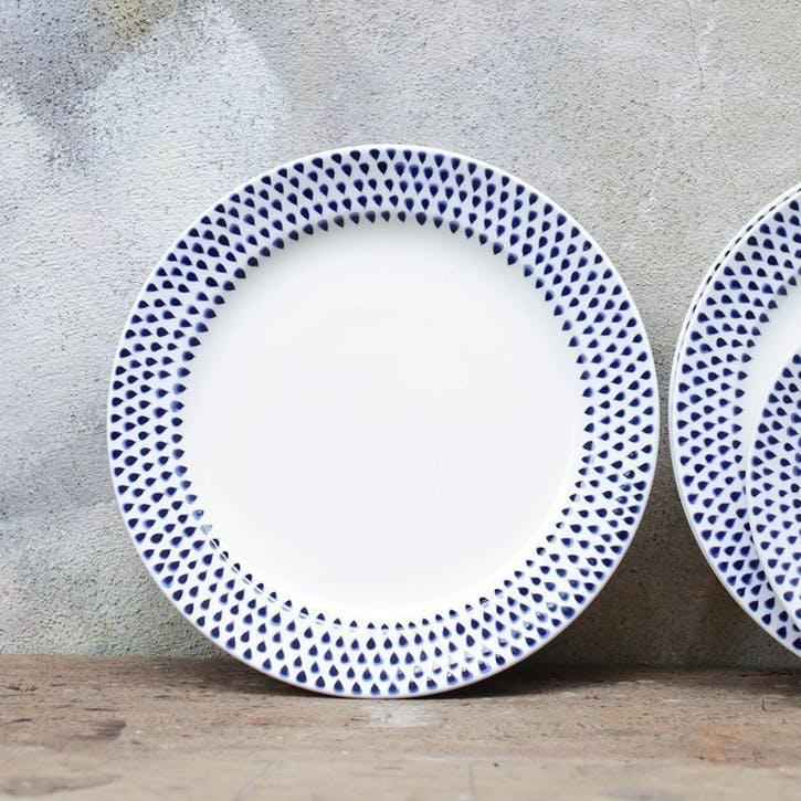 Indigo Drop Dinner Plate