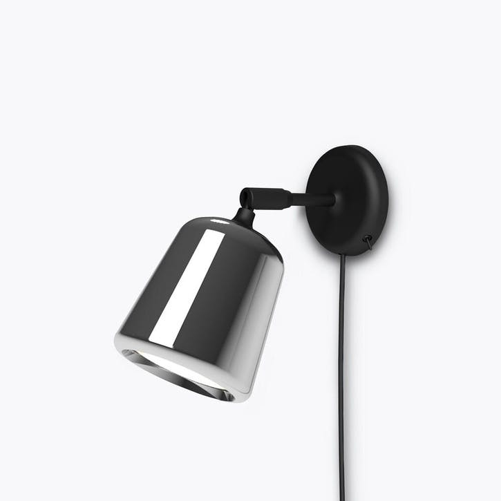 Material, Wall Lamp, W13 x D18cm, Stainless Steel