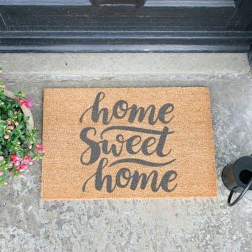 Home Sweet Home Doormat, Grey