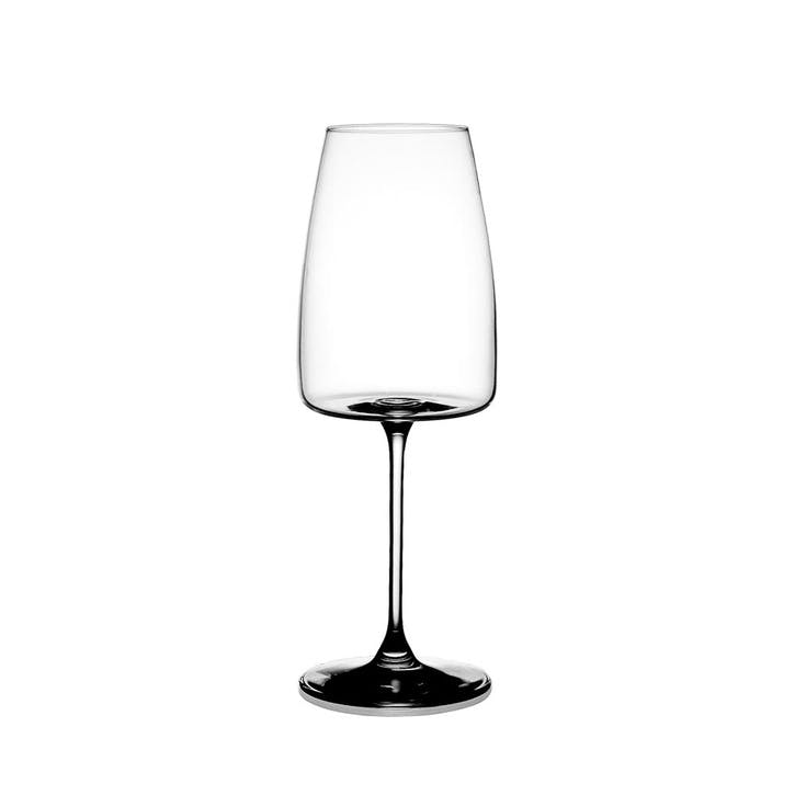 Galet White Wine Glass, Set of 6, Clear