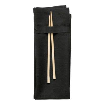 Herringbone Napkin, L50 x W40cm, Black