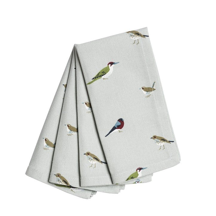 'Garden Birds' Napkins, Set of 4
