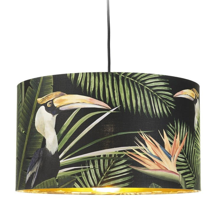 Birds of Paradise Drum Pendant Lamp