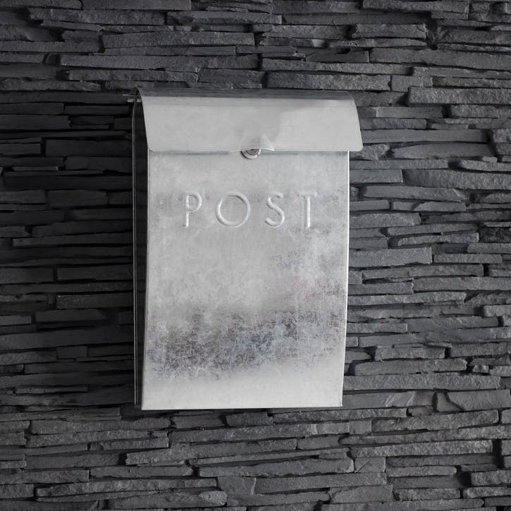 Post Box with Lock, Galvanised