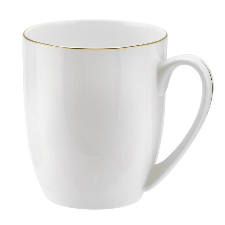 Serendipity Barrel Shape Mug, Set of 4; Gold