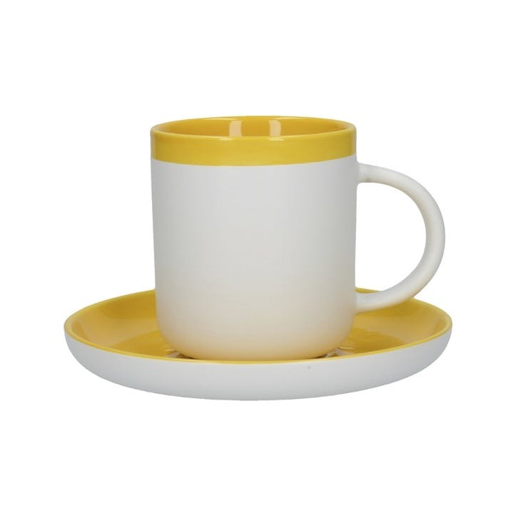 Barcelona Espresso Cup and Saucer, Mustard