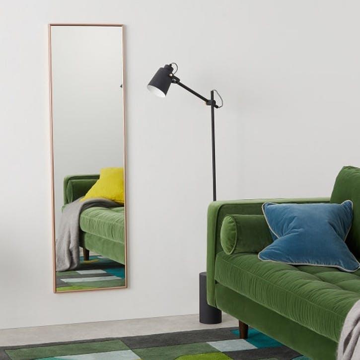 Denver Full Length Wall Mirror, Copper