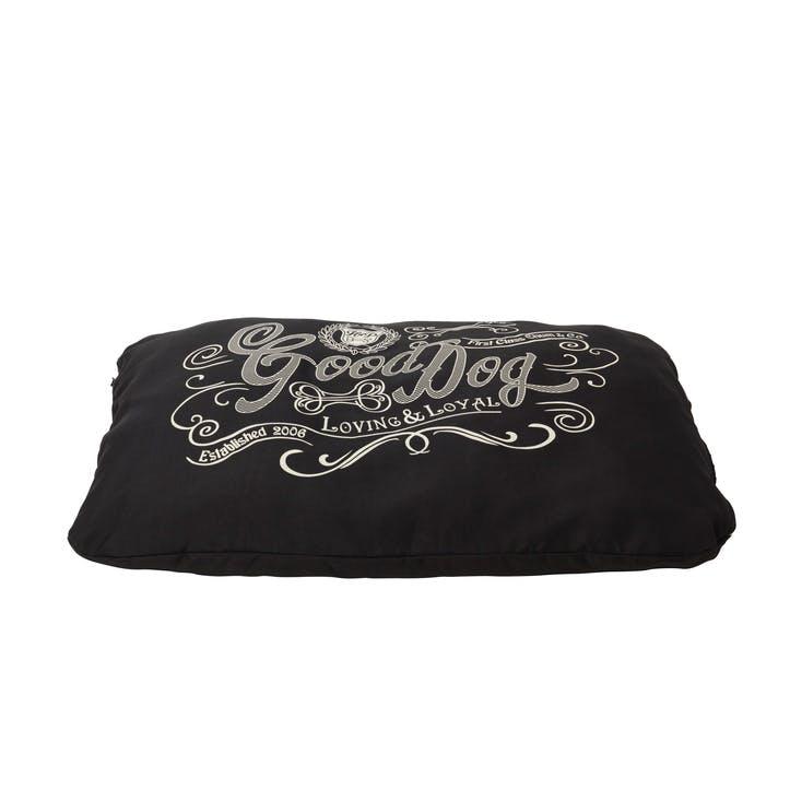House Of Paws Good Dog Linen Cushion - Large/XL; Black