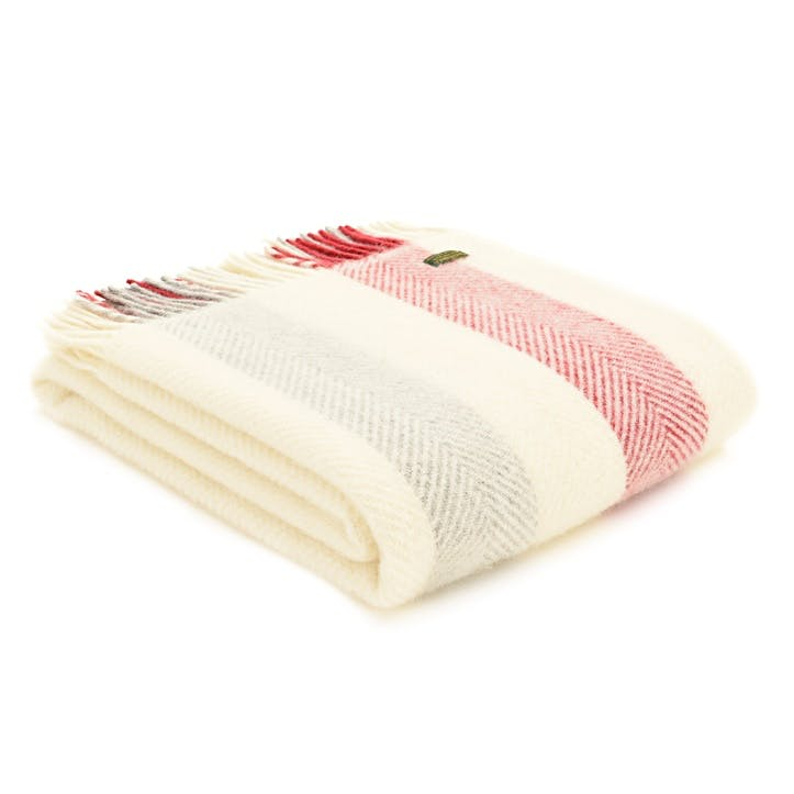 Stripe Blanket, Berry