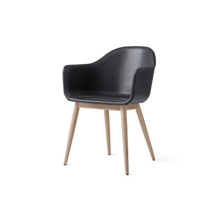 Harbour, Dining Chair, H81 x W59 x D57cm, Black & Oak