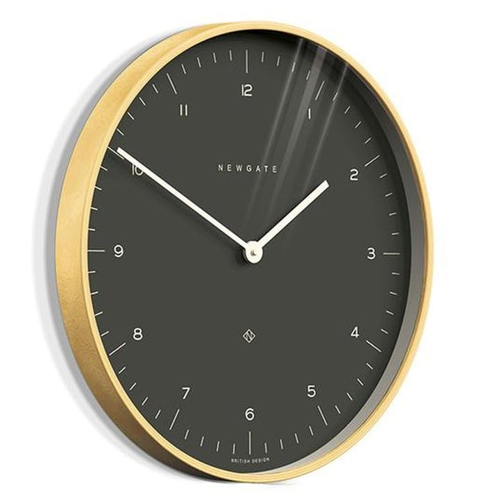 Mr Clarke Wall Clock, Dark Grey