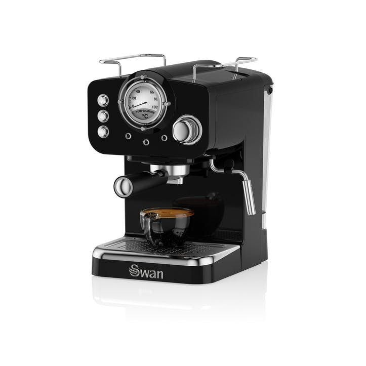 Retro Espresso Machine, Black