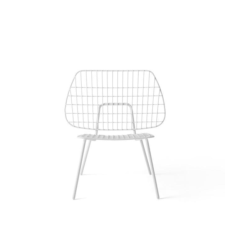 WM String, Lounge Chair, H80 x W53 x D50cm, White