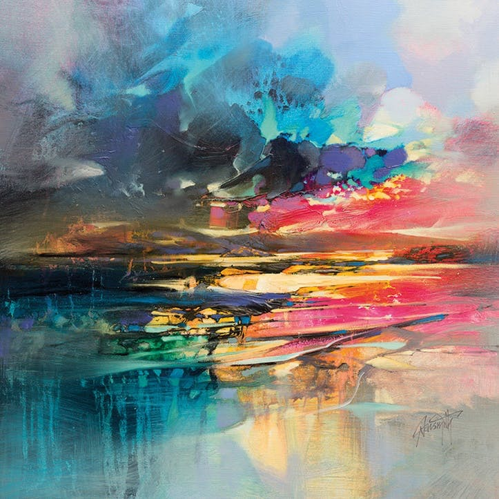 Scott Naismith Dissolving Shoreline Canvas Print - 85 x 85cm
