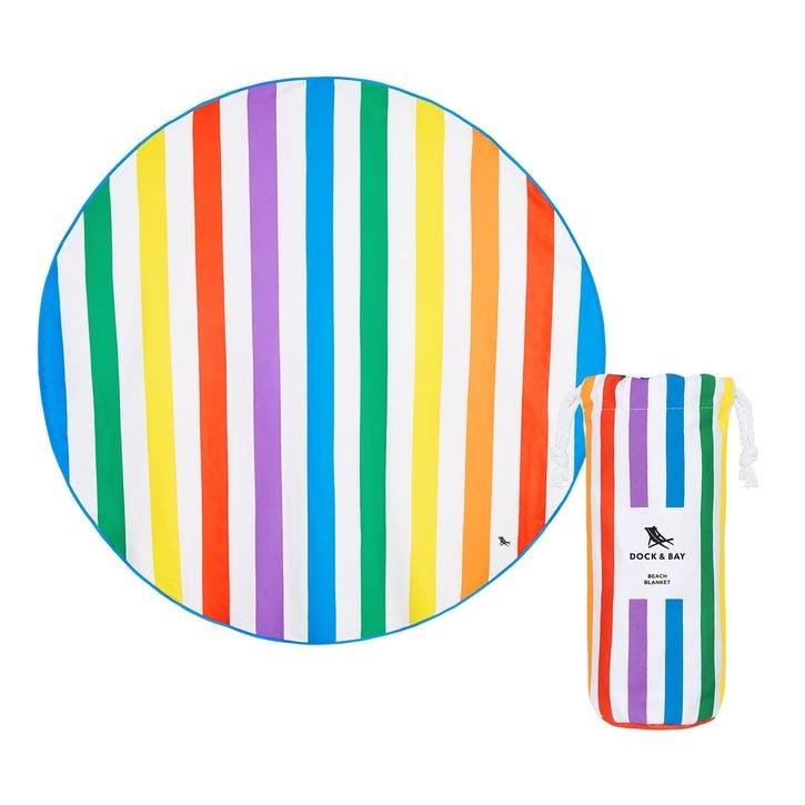 Round Beach Towel; Rainbow Skies