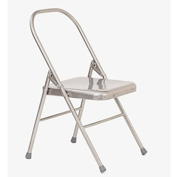 Chair With Front Bar, Silver