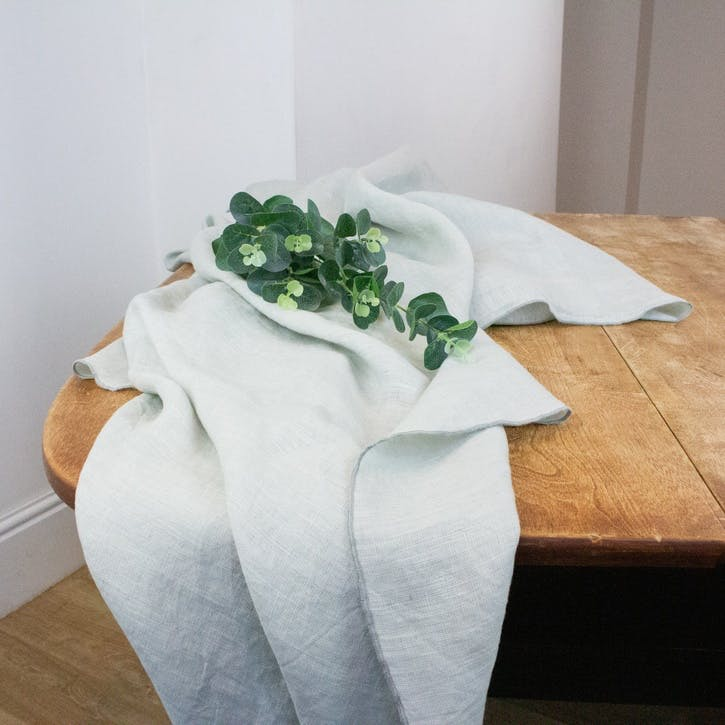 Jewel Linen Tablecloth, Oyster