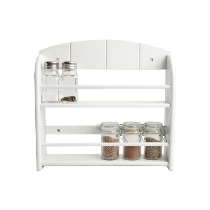12 Jar Spice Rack, White