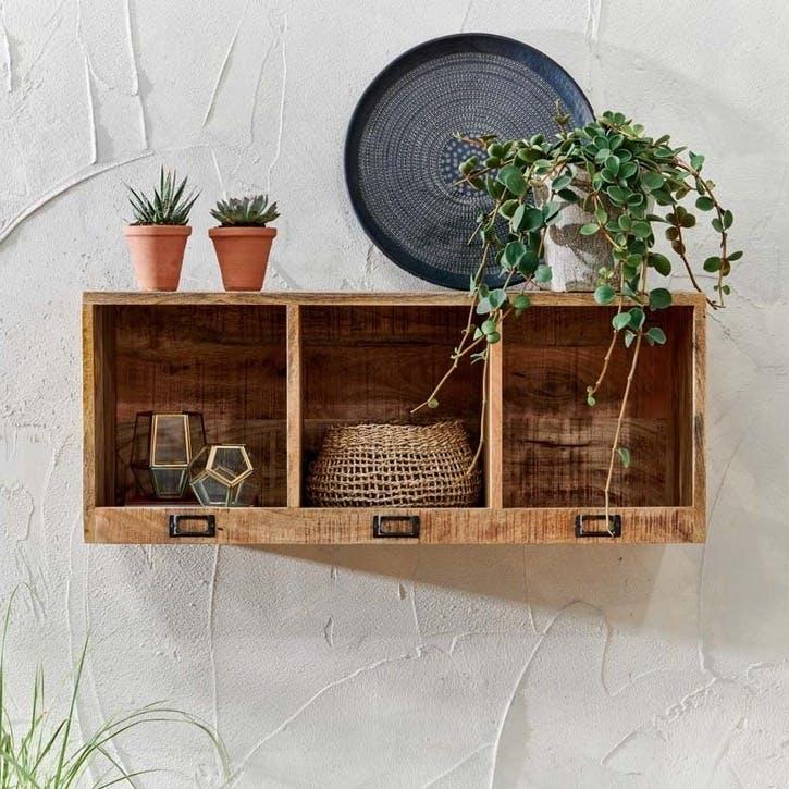 Makua Wooden Locker Shelf, Medium