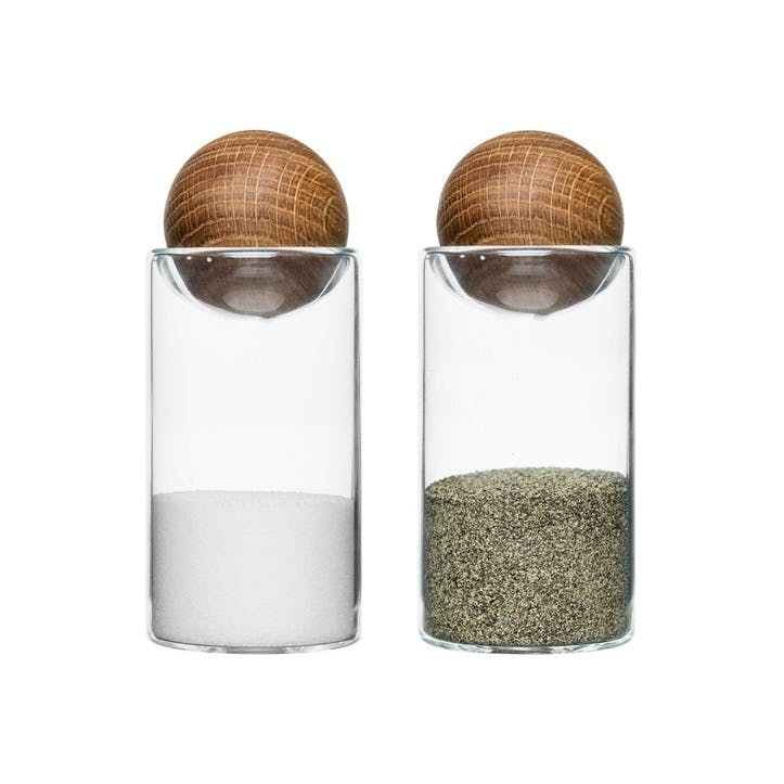 Oak Salt and Pepper Set